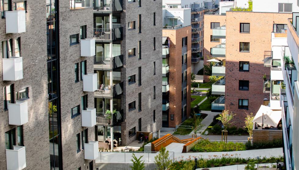NORMALISERT: Prisen på brukte Obos-boliger steg med 1,9 prosent i februar. På bildet ser vi boligbebyggelse i Kværnerbyen i Oslo. Foto: Audun Braastad / NTB scanpix