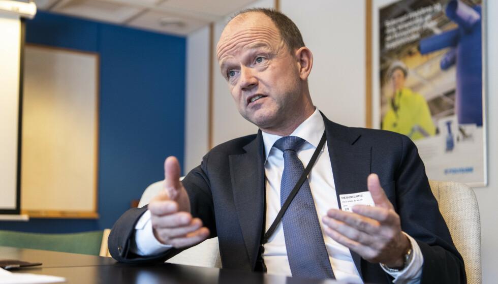 KNIPER: NHOs administrerende direktør forklarer hvorfor arbeidsgiverne vil holde igjen i årets lønnsoppgjør. Foto: Lars Eivind Bones