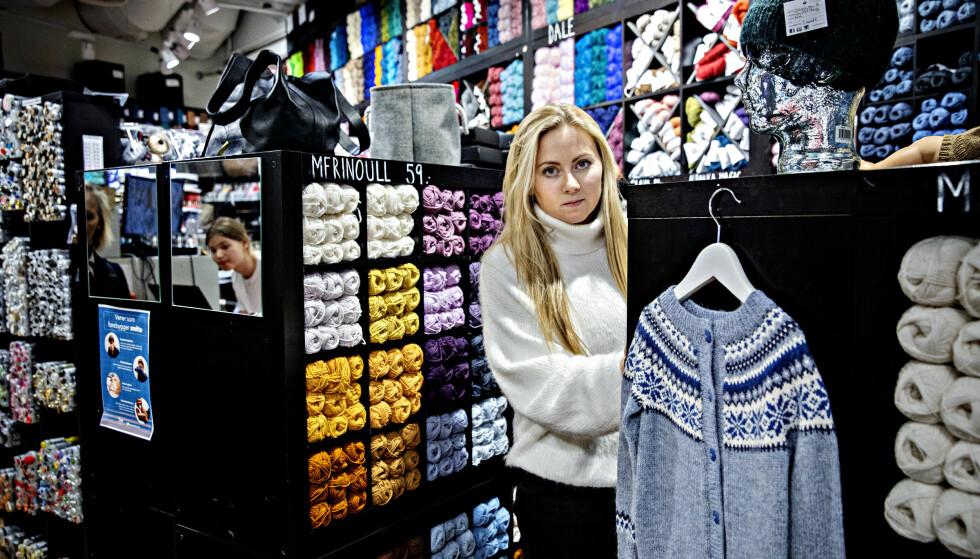 <strong>NØSTET MITT:</strong> Pernille Sandin i butikken Nøstet mitt på Tveita senter. Foto: Nina Hansen / DAGBLADET