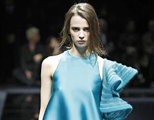 TOM SAL: Giorgio Armanis visning under Milan Fashion Week i slutten av februar gikk for tom sal. Foto: Camera Press / Mega / NTB Scanpix