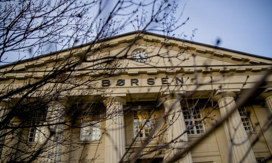 OPP ETTER KUTT: Oppgang på Oslo Børs etter et ekstraordinært rentekutt fredag morgen. Foto: Stian Lysberg Solum / NTB scanpix