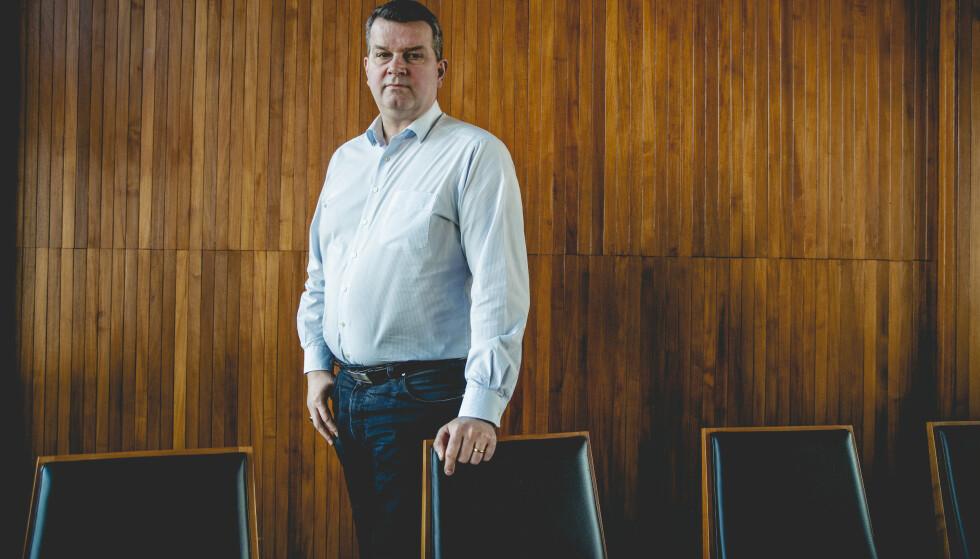 KREVER HANDLING: LO-leder Hans-Christian Gabrielsen vil ha tiltak på plass for arbeidslivet for å håndtere coronasmitten. Foto: Stian Lysberg Solum / NTB scanpix