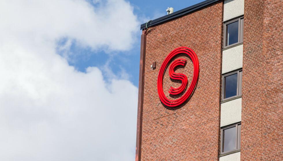 TAR CORONA-GREP: Logoen til Studentsamskipnaden i Oslo og Akershus (SiO) på et bygg i Kringsjå studentby i Oslo. Foto: Audun Braastad / NTB Scanpix