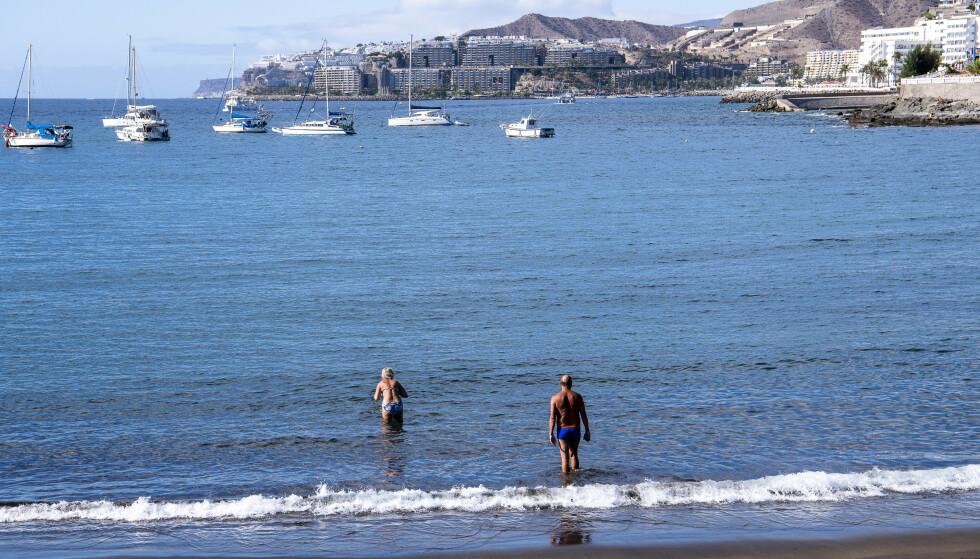STOPPER REISER: Reiseoperatøren TUI stanser reiser etter UDs nye reiseråd. Her fra Arguineguin på Gran Canaria. Foto: Lars Eivind Bones