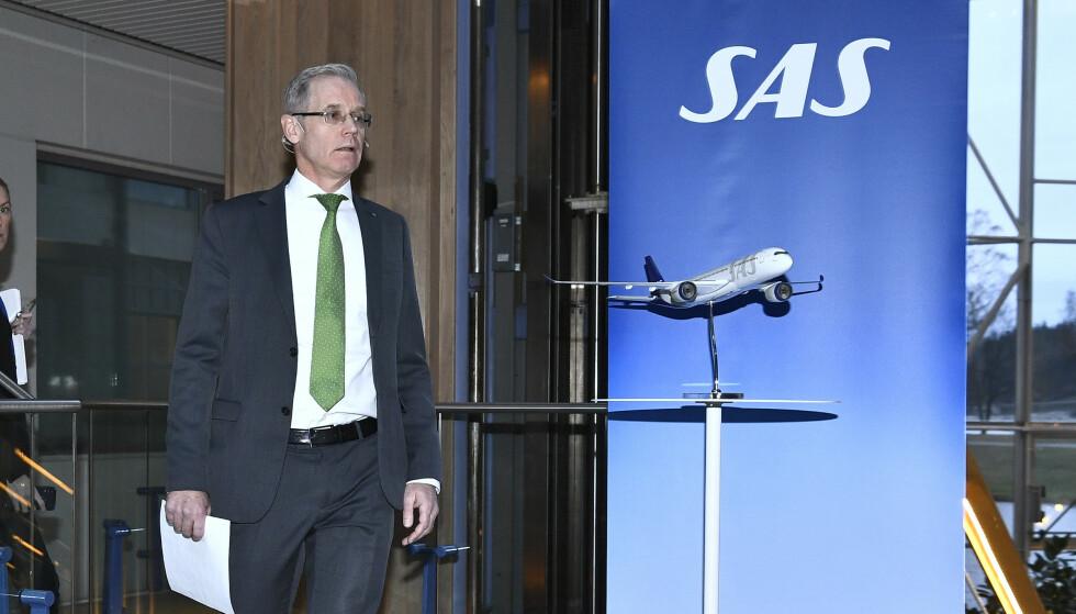 I KRISE: Søndag valgte flyselskapet SAS å stanse mesteparten av virksomheten. Foto: NTB Scanpix