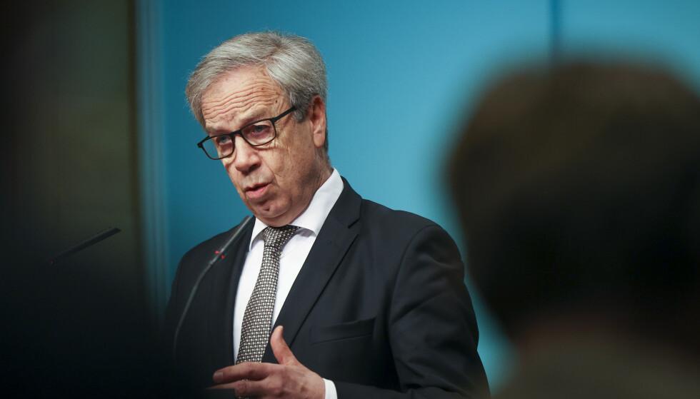 <strong>KREVER SVAR:</strong> Sentralbanksjef Øystein Olsen må svare på ti spørsmål fra Norges Banks representantskap. Foto: Ørn E. Borgen / NTB scanpix