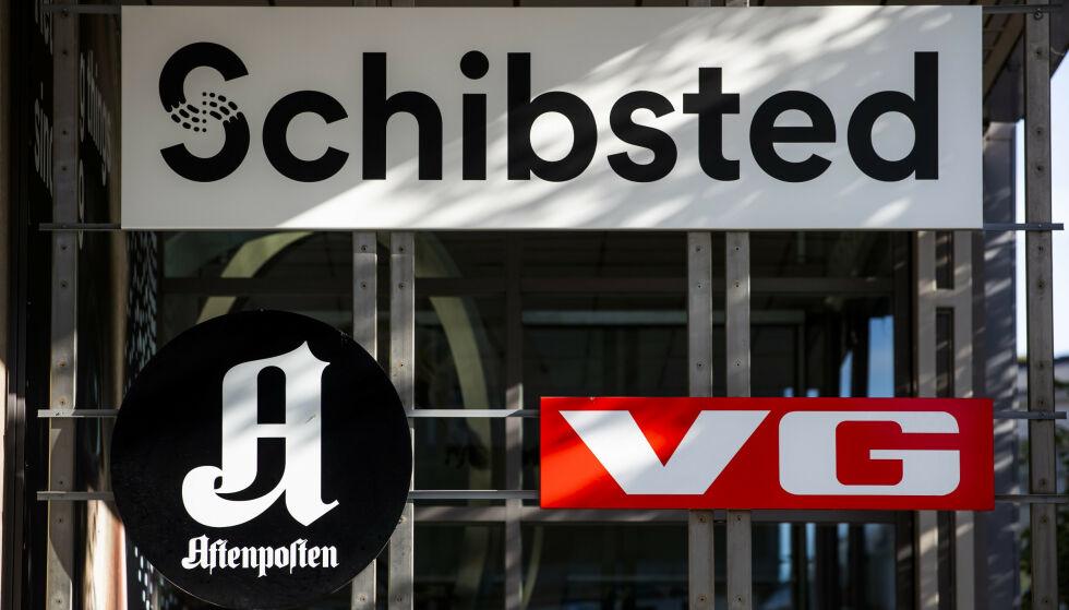 MEDIEKONSERN: Schibsted eier blant annet finn.no, Aftenposten, VG og en rekke andre aviser.Her fra selskapets lokaler i Akersgata i Oslo. Foto: Håkon Mosvold Larsen / NTB scanpix