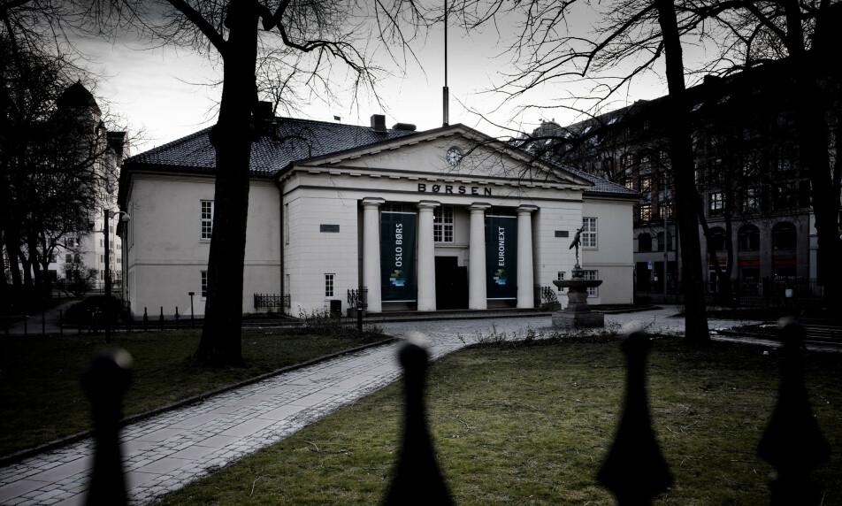 BRATT START: Oslo Børs åpner ned mandag. Foto: Lars Eivind Bones / Dagbladet