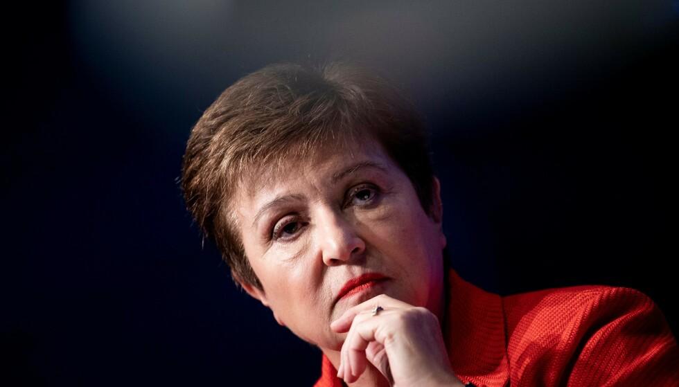 RESESJON: IMF-sjefen Kristalina Georgieva sier verdensøkonomien er i resesjon. Foto: Lise Åserud / NTB scanpix