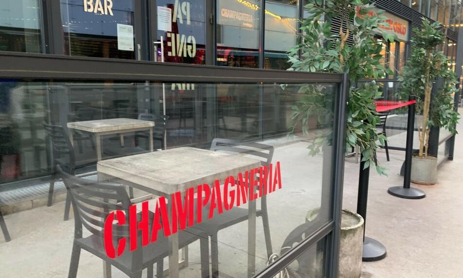 <strong>KONKURS:</strong> Champagneria Bodega i Mathallen i Oslo er konkurs. Situasjonen er krevende på Frogner. Foto: Nicolai Eriksen / Børsen