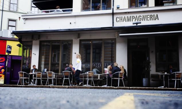 <strong>FORTSETTER:</strong> Utestedet Champagneria som ligger i Frognerveien 2 fortsetter etter planen som før, ifølge Ellingsen.  Foto: Kyrre Lien / NTB Scanpix.