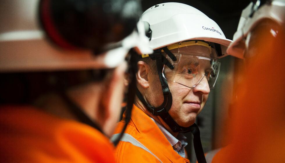 SKUFFET: Forbundsleder Frode Alfheim i Industri Energi. Foto: Carina Johansen / NTB