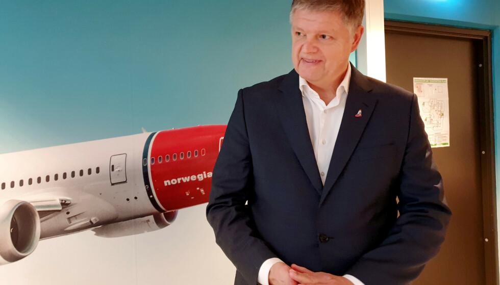 <strong>HAR VENTET:</strong> Norwegians konsernsjef Jacob Schram har ventet på en avgjørelse om krisepakken på inntil tre milliarder kroner til Norwegian. Nå har han fått avgjørelsen. Foto: Reuters/Victoria Klesty/NTB Scanpix