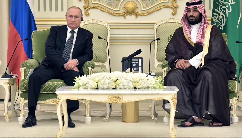 <strong>KAMPHANER:</strong> Corona-krisen har tvunget Russlands president Vladimir Putin og Saudi-Arabias kronprins Mohammed bin Salman til å avslutte sin krig om oljemarkedsandeler. Men skaden har allerede skjedd. Foto: NTB Scanpix/REUTERS