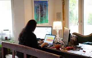 Fire av fem: Tungt å jobbe hjemme