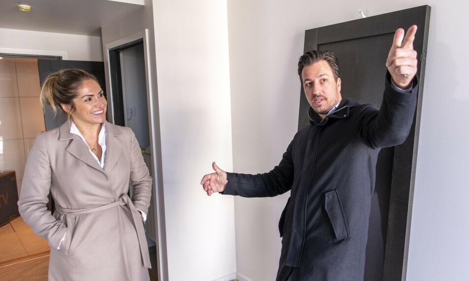 RADARPAR: Helene Solberg (34) og Hans Houeland (38) regnes som to av landets mest profilerte eiendomsmeglere. I tillegg er de kjærester, samboere og kolleger. Foto: Lars Eivind Bones / Dagbladet