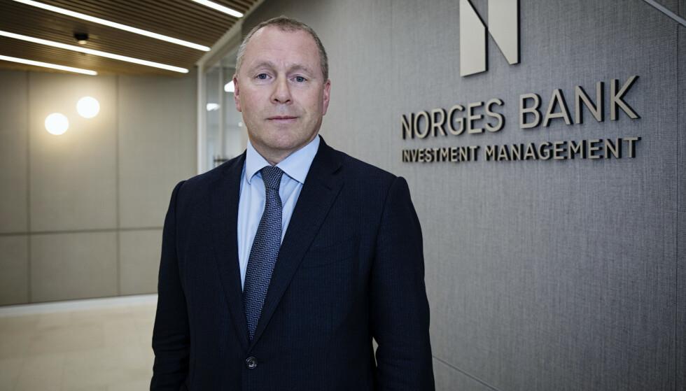 <strong>NY SJEF:</strong> Nicolai Tangen er sjef i oljefondet, Statens pensjonsfond. Han ble tilsatt i slutten av mars. Foto: Nina E. Rangoy / NTB scanpix
