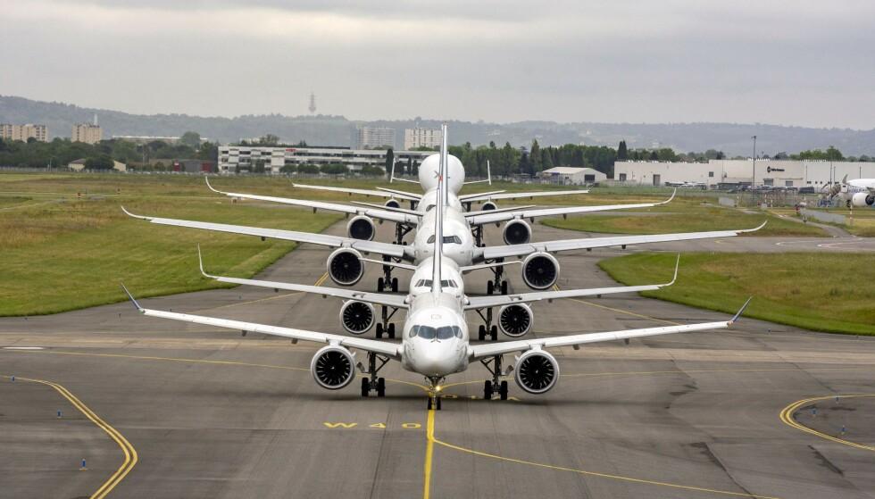 ALVORLIG: Situasjonen for Airbus er svært alvorlig, og topplederen i selskapet skriver i en intern mail at det nå handler om selskapets overlevelse. Foto: Jean-Vincent Reymondon / Airbus / AFP / NTB Scanpix