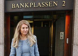 LEDER: Julie Brodtkorp etter møtet i representantskapet i Norges Bank om ansettelsen av Nicolai Tangen som oljefondssjef. Foto: Terje Pedersen / NTB scanpix