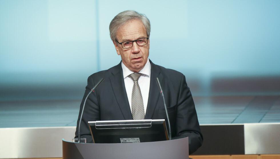 Norges Bank har besluttet å redusere styringsrenten til null prosent. Beslutningen var enstemmig. Avbildet er sentralbanksjef Øystein Olsen. Foto: Ørn E. Borgen / NTB scanpix