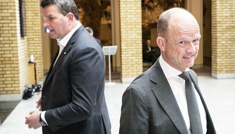 KRITISKE: LO-leder Hans Christian Gabrielsen og NHO-sjef Ole Erik Almlid etterlyser investeringsbeslutninger for det grønne skiftet. Foto: Hans Arne Vedlog / Dagbladet