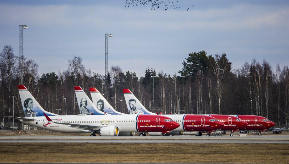 SNUR: Norwegian innfører foreløpig ikke noe krav om munnbind på sine flyginger. Foto: Ole Berg-Rusten / NTB scanpix