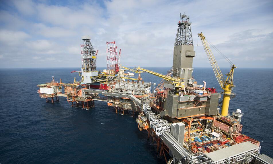 VALHALL: Aker ber Stortinget gjøre endringer i regjeringens krisepakke for oljenæringen. Her fra Valhall-feltet i Nordsjøen, der Aker BP er operatør. Foto: Håkon Mosvold Larsen / NTB scanpix