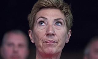 <strong>OPPRØRT:</strong> LO-nestleder Peggy Hessen Følsvik er dypt bekymret for de mange som risikerer å ikke få utbetalt feriepenger i år. Foto: NTB scanpix