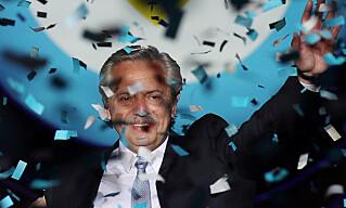 STENGTE: Argentinas president Alberto Fernandez. Foto: Ricardo Moraes   / Reuters / NTB Scanpix