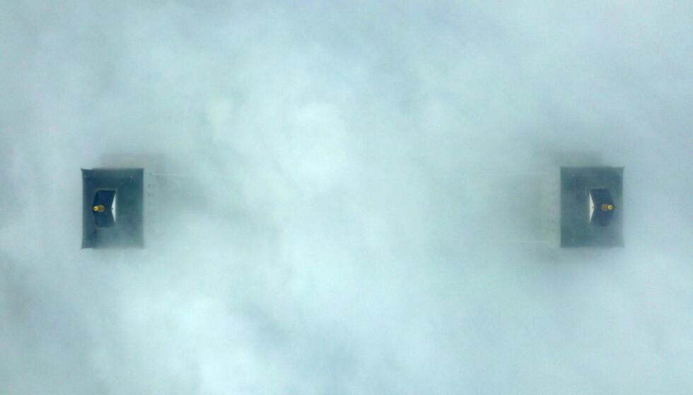 TETT TÅKE: Forurensingen i Kina gikk kraftig ned da hele landet ble stengt ned, men idet landet ble gjenåpnet spratt det raskt opp igjen til et nivå som var verre enn før pandemien. Bildet er tatt 13 . januar i år i byen Yangzhou. Foto: Meng Delong / Costfoto / Sipa USA / NTB scanpix
