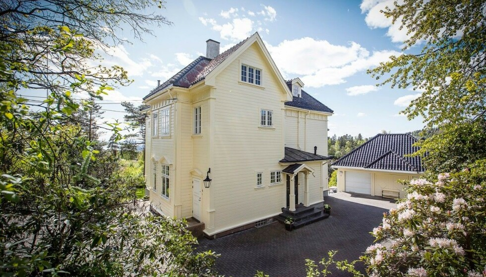 UTSIKT: Villaen har en tomt på nær 3,8 mål. Nå håper Rytter at nye eiere vil utnytte eiendommens potensial. Foto: Studio Oslo