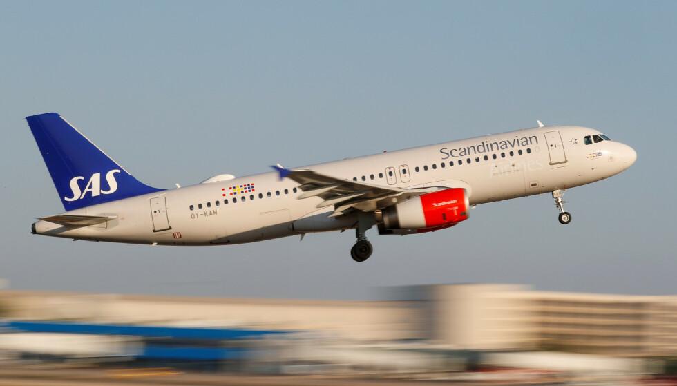 FLYR IGJEN: SAS gjenopptar flere internasjonale flygninger i juni. Selskapet gjenopptar blant annet avganger til Chicago og New York fra København.  Foto: Paul Hanna / Reuters / NTB Scanpix