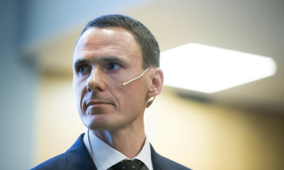 FERDIG: Finansdirektør Ole Martin Grimsrud i Aker Solutions går av 1. september. Selskapet er i gang med å finne hans etterfølger. Foto: Terje Pedersen / NTB scanpix