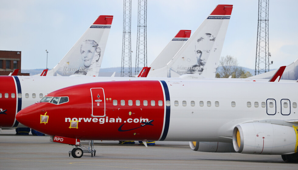 <strong>BORTE:</strong> 97,8 prosent færre passasjerer for Norwegian i mai enn samme måned i gjor. Foto: NTB scanpix