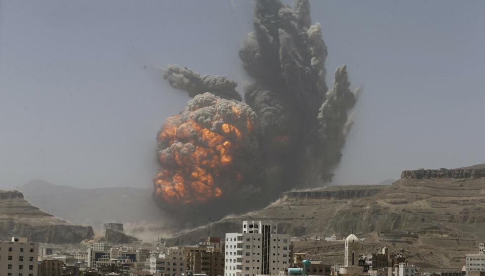 <strong>VÅPEN:</strong> Etikkrådet ber oljefondet utelukke selskaper som selger militært materiell som brukes i konflikter der det er alvorlige og systematiske brudd på humanitærretten, som for eksempel Jemen. Foto: REUTERS / Khaled Abdullah  / NTB scanpix
