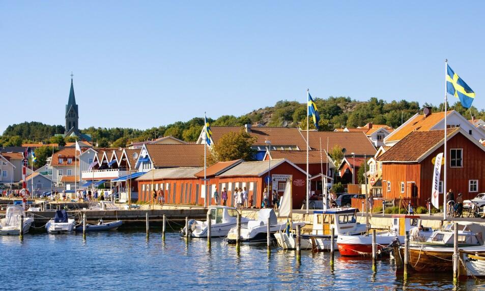 I SORG: En rekke kommuner fortviler over grensenekten. Her det populære feriestedet Grebbestad. Foto: NTB Scanpix.