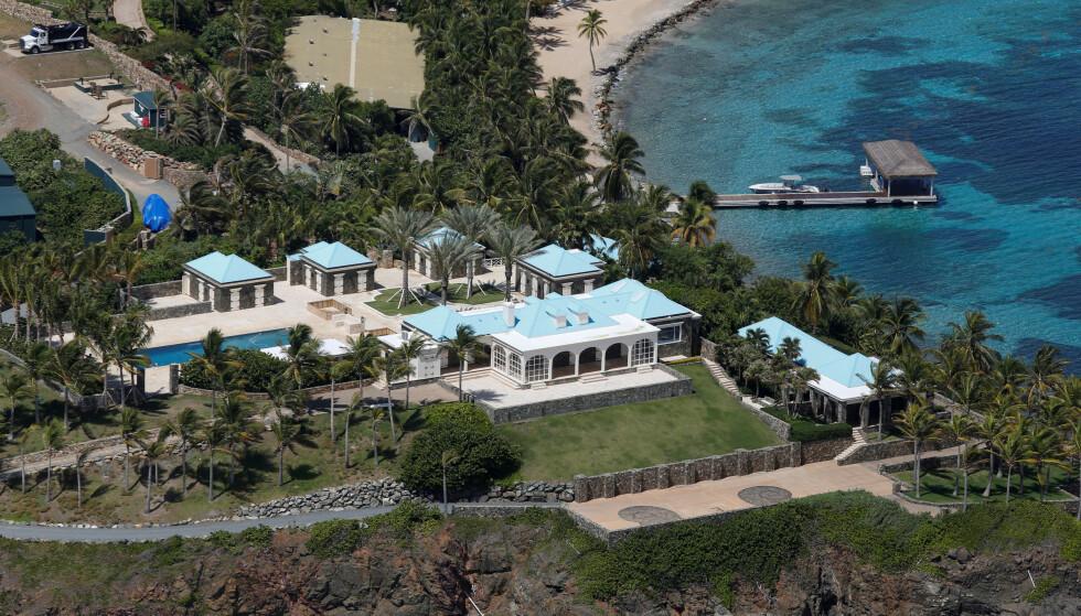 SKREKKHISTORIER: Det er påstått at mange av Jeffrey Epsteins forbrytelser skal ha funnet sted på Little St. James, hans private øy i Karibien. Foto: NTB Scanpix