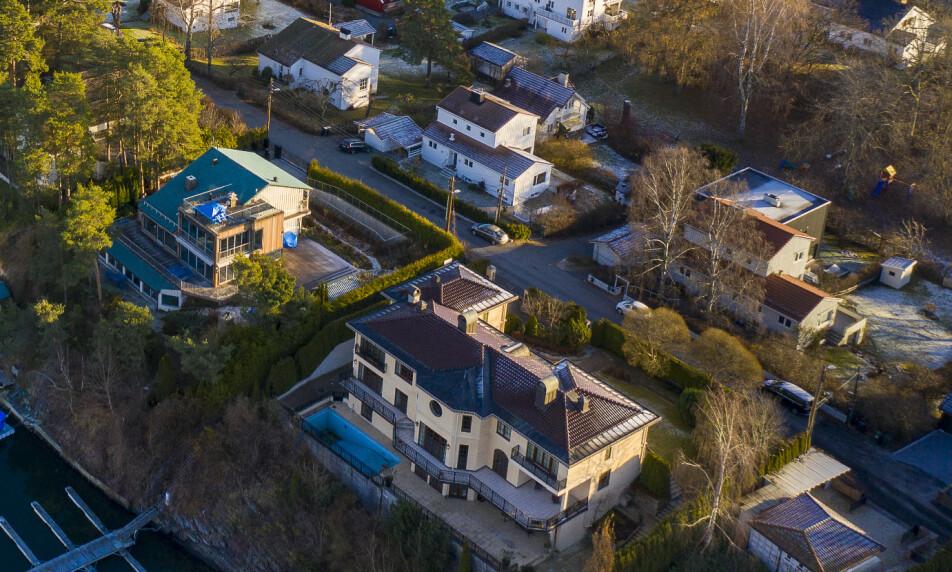NYE EIERE: I februar solgte Øivind Tidemandsen denne gule villaen på Bygdøy. Nå kommer det fram hvem som har kjøpt boligen. Foto: Lars Eivind Bones / Dagbladet