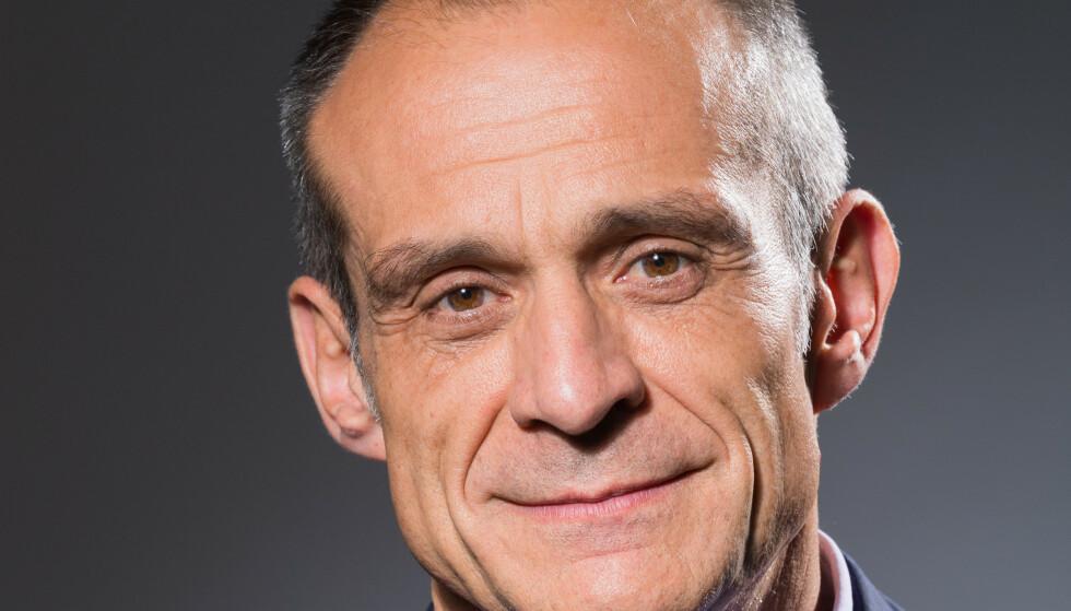 AVSTAND: Æresekorert, innflytelsesrik og velstående. Franskmannen Jean-Pascal Tricoire er toppsjef i det multinasjonale konsernet som la ned 80 superlønnsomme arbeidsplasser på Åmot i Modum kommune. Foto: Schneider Electric France