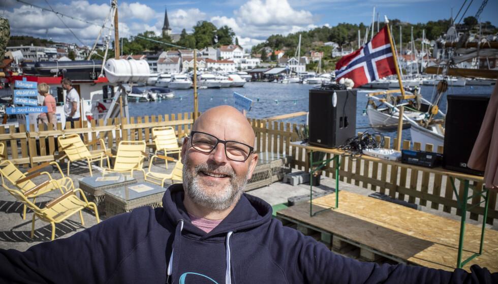 <strong>Grimstad:</strong> Rune Nøstvik sier at det kryr av turister i Grimstad i disse dager. Foto: Lars Eivind Bones / Dagbladet.