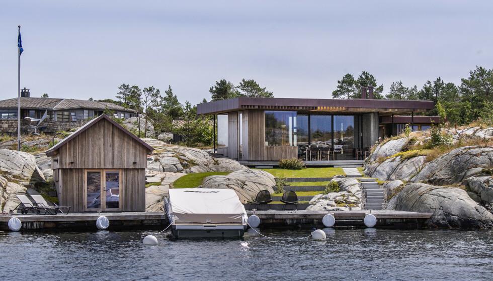 HYTTER: Nicolai Tangen kjøpte i 2017 en eiendom i Blindleia til 20 millioner. Så rev han hytta, og i fjor sommer stod den nye klar. Milliardæren eier også en annen hytte i havgapet. Foto: Lars Eivind Bones / Dagbladet.
