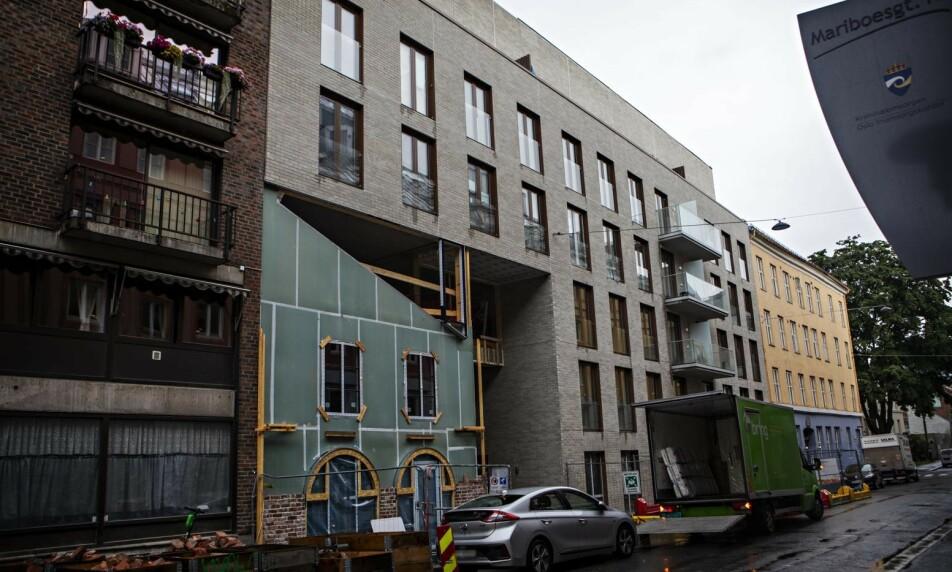 KNUSENDE BESKJED: Plan- og bygningsetaten har varslet at beboerne i dette nybygget i Mariboes gate 14 må flytte ut innen tre uker. Foto: Frank Karlsen / Dagbladet