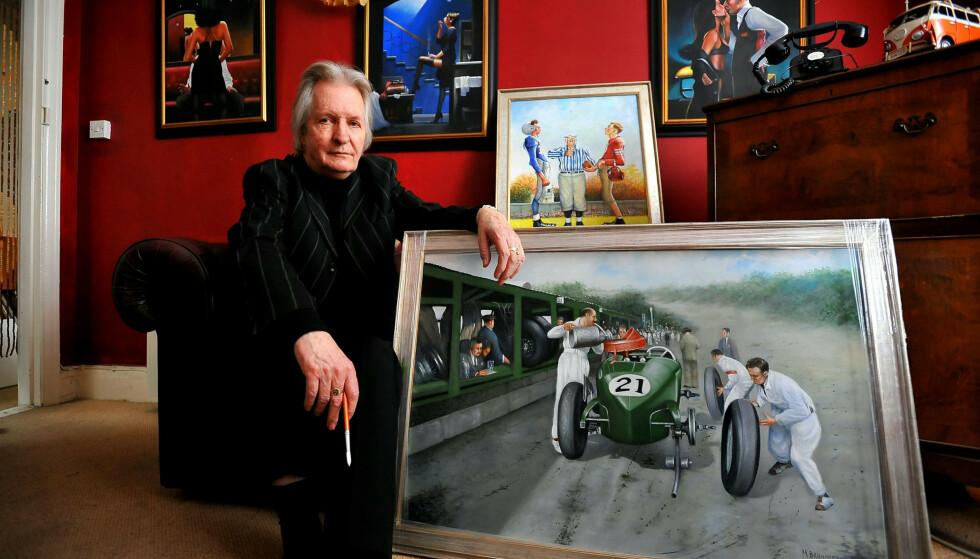 LURENDREIER: Max Brandrett tjente seg søkkrik på å male eksepsjonelle kunstverk. Det er bare ett problem. Foto: NTB Scanpix