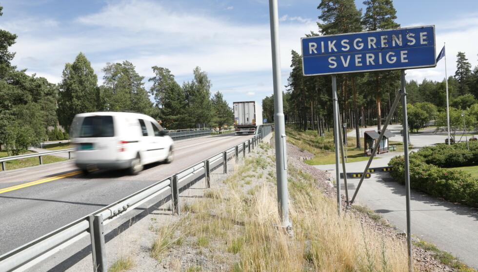<strong>GRENSA:</strong> Regjeringen åpnet i dag for ytterligere tre regioner i Sverige. Foto: Christian Roth Christensen / Dagbladet.