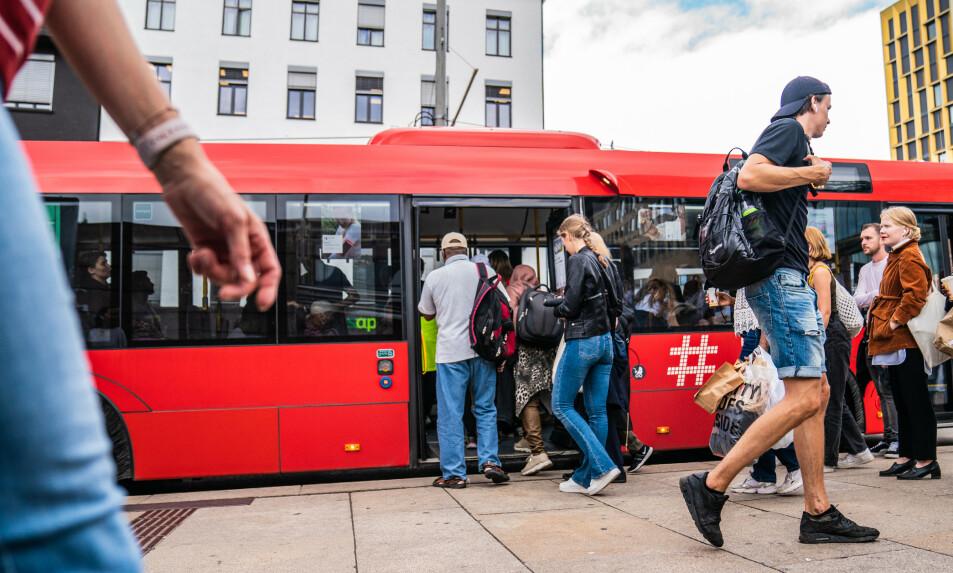 TRENGSEL: Uten tiltak frykter Virke kaos i kollektivtrafikken framover. Foto: Stian Lysberg Solum / NTB scanpix