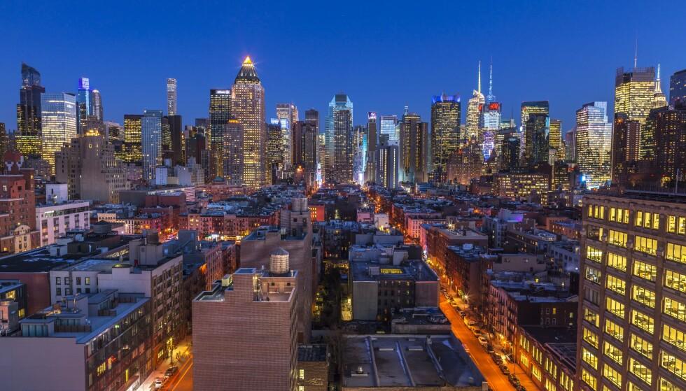 KJEMPESMELL: Økonomien i New York og andre amerikanske byer og delstater er alvorlig rammet av coronapandemien. Foto: Best Shot Factory / REX / NTB scanpix