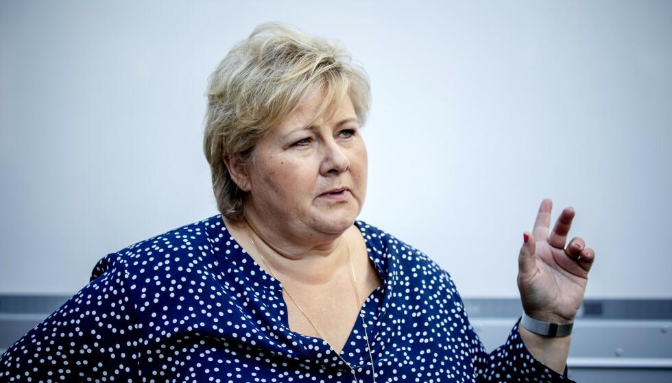 UTVIDER: Regjeringen og statsminister Erna Solberg utvider permitteringsordningen til 52 uker. Foto: Nina Hansen / DAGBLADET
