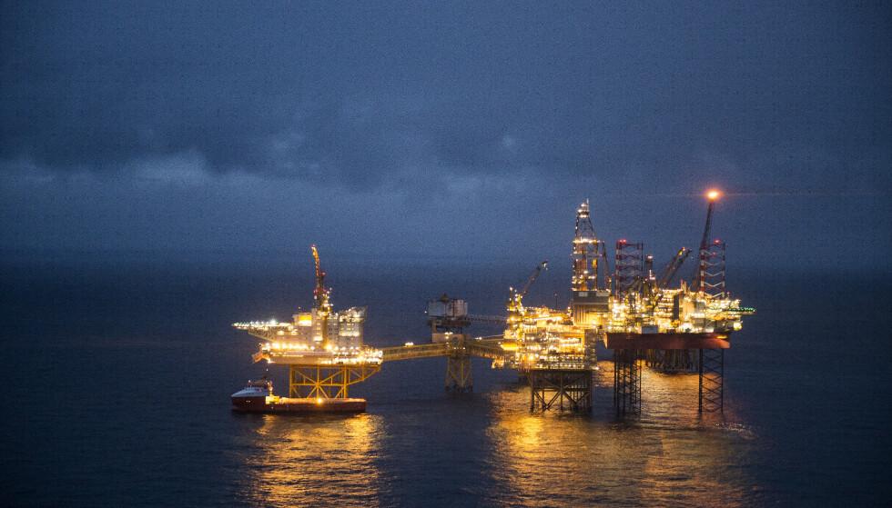 REAGERER: Ikke riktig å snakke om handelsbalanse uten å ha med inntektene fra olje og gass, mener næringsministeren. Foto: Carina Johansen / NTB scanpix