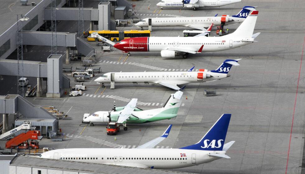 KRISEHJELP: En samlet flybransje ba om kontantstøtte da de møtte regjeringen fredag. Illustrasjonsfoto: Gorm Kallestad / NTB scanpix