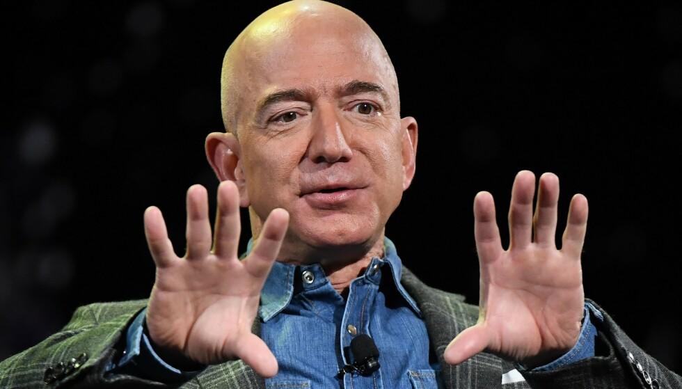 <strong>ALDRI VÆRT RIKERE:</strong> I august ble det klart at Jeff Bezos selv, som fra før av var verdens rikeste person, aldri hadde vært rikere. Amazon-sjefens formue nådde bortimot 202 milliarder dollar ettersom selskapets aksjer steg, skrev CNN Business. Foto: AFP